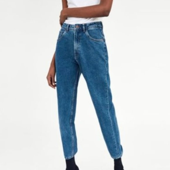 Zara Authentic Denim by TRF High Waisted Mom Jeans